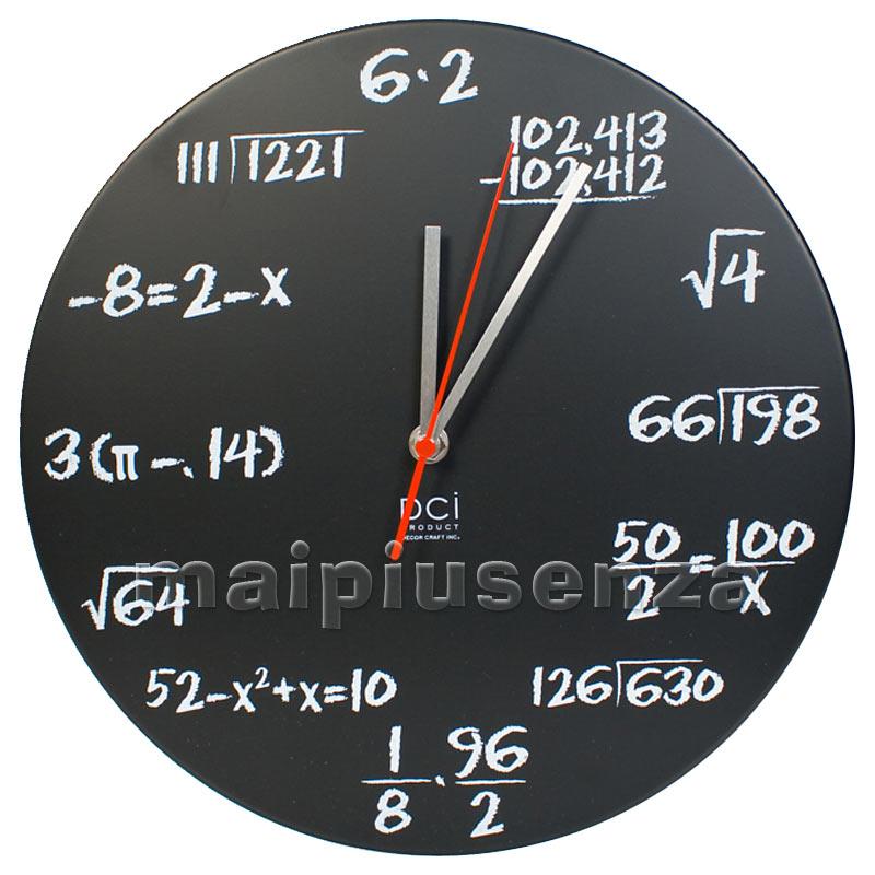 Orologio da parete formule matematiche chalk watch for Lavagna con orologio thun